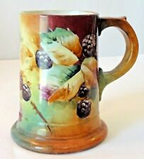 Antique Bell Brothers Pottery Company (BP CO) Berry Floral Hand-Painted Tankard