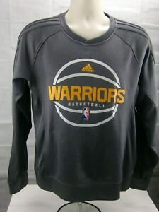 Adidas Golden State Warriors Crewneck Sweater Grey Pullover  Size Large