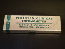 1950 Certified Clinical Thermometer by Eisele & Company Matching numbers