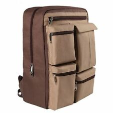 "BACKPACK RUCKSACK Padded Brown Laptop BAG Fits 15.6"" PC/Notebook/Tablet/iPad UK"