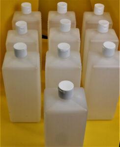 10 Stück Vierkantflaschen / Euroflaschen  1000ml / 250ml HDPE natur, Gew. RD 25