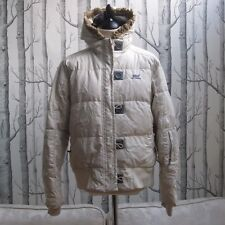 Helly Hansen Down Filled Jacket Coat Off White Padded Women's Size XL