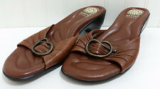 EARTH SPIRIT Gelron 2000 SEVIER Sandals Ladies Sz 8 Leather Slides Cushioned