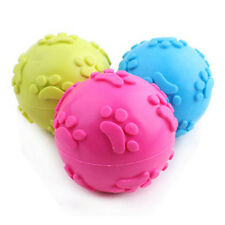 New Funny Pet Dog Cat Rubber Ball Treat Training Chew Sound Activity Toy Squeaky