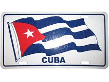 "Cuba Cuban Waving Flag 6""x12"" Premium Quality Aluminum License Plate Tag"