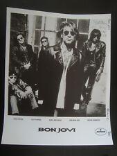 Bon Jovi 8X10 B&W Promo Original Press Photo b