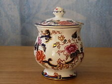 "Vintage Mason's Ironstone Condiment Jar ""Mandalay Blue"""