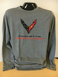 C8 Racing Corvette Long Sleeve T-Shirt Gray