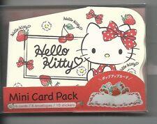 sanrio hello kitty mini karte set schleifen