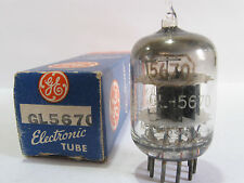 One 1950 GE GL-5670 (2C51,396A) tube - Black Plates & Shield, Top [ ] Getter