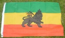 Ethiopian Lion 3x2 Flag Reggae of Judah Rastafarian African State Black Power bn