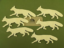 6 Birch plywood not MDF foxes decoration, gift tag label, decoupage, pyrography