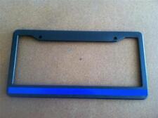 Black License Plate Frame Blue Line Reflective Auto Accessory Novelty