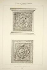 panneaux de la cuve Baptismale de Pise/ PISA, architecture romane, Toscane