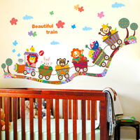 cartoon animal zoo circus train children diy`removable kids wall stickers dec DP