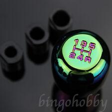 Neo Car 5 Lever Gear Stick Shifter Knob Rainbow Gear shift knob Colorful