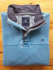 Crew Clothing Blue Sweatshirt Men's XL Zip Neck EXCELLENT CONDITION