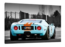 Ford GT40 - 30x20 Inch Canvas - Framed Picture Print Artwork
