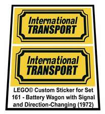 Precut Custom Replacement Stickers voor Lego Set 161 - Battery Wagon with Signal