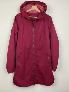 LULULEMON Size 8 Cranberry Red DEFINITELY RAINING Softshell Parka Jacket M45