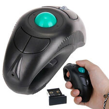USB Wireless PC Laptop Finger Handheld Trackball Mouse Mice w/ Laser Pointer