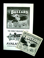 "WMMS Cleveland 10th anniversary ""The Buzzard Song"" by Alex Bevan poster&45cover"