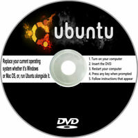 Ubuntu 2020 Edition on DVD (Windows or Mac Replacement) 64 bit Any Desktop PC