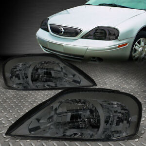 FOR 00-05 MERCURY SABLE SMOKED HOUSING CLEAR CORNER HEADLIGHT REPLACEMENT LAMPS
