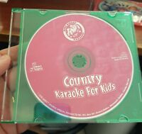 Country Karaoke For Kids (disc only) AUDIO CD - FREE POST