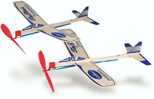 Guillow's  SkyStreak Balsa Wood Glider Twin Pack - 2 Per Box