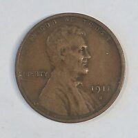 1911-S Lincoln Cent - High Quality Scans #D542