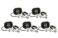 "5x 5"" 24 W Watt LED Flush Mount SPOT Light CREE Off Road Driving Fog Lamp Pod"