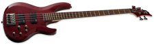 ESP B0204FM Electric Bass Guitar - See Thru Red Finish NEW!!