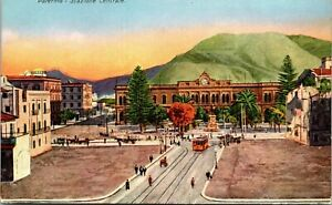 PALERMO SICILY ITALY STAZIONE CENTRALE RAILROAD STATION OLD POSTCARD VIEW