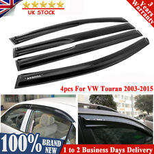 For VW TOURAN 03 to 15 WINDOW DEFLECTOR VISOR VENT SHADE SUN GUARD BLACK UK