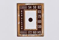 Vintage RCA Victor Broadcast Tube Radio Part Glass Face Plate Dial Tuner Bezel