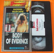 film VHS BODY OF EVIDENCE Madonna CARTONATA PANORAMA 1993 (F92) no dvd
