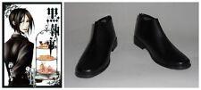 Black Butler Kuroshitsuji Sebastian Cosplay Costume Boots Boot Shoes Shoe