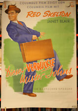 DIESER VERRÜCKTE MISTER JOHNS - Plakat Poster - RED SKELTON The Fuller Brush Man