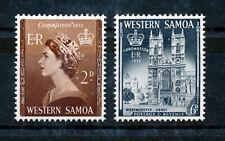 WESTERN SAMOA 1953 CORONATION SG229/230  MNH