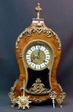 superbe cartel pendule style louis XV once de noyer bronze 43cm3Kg  marqueterie