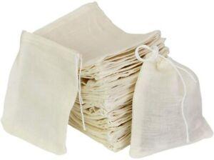 Cotton Muslin Drawstring Bags, 50PCS Resuable Small Mesh Bag for Cooking,Soaking