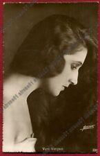 VERA VERGANI 48 ATTRICE ACTRESS TEATRO CINEMA MOVIE foto FONTANA viaggiata 1923