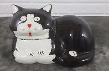 Vintage Black & White Cat Cookie Jar