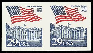 Scott 2609 - 29¢ Flag Over White House, '92 Perf Freak, looks imperf