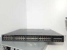 Cisco WS-C3650-48FS-S 48-Port Gigabit PoE Switch 2x PWR-C2-1025WAC