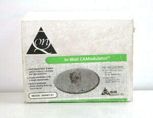 Legrand/ ONQ In Wall CAModulator Flush Mount Black/ White Camera 364467-01 D109