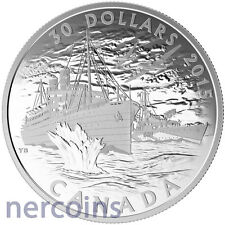 Canada 2015 Merchant Navy in the Battle of Atlantic $30 Pure Silver Coin Perfect