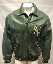ny yankees leather jacket By Mirage Size 2XL