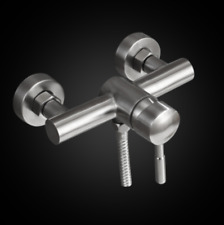 Brushed Nickel Hot and Cold Wall Mounted Bath Mixer Shower Valve Stainless steel
